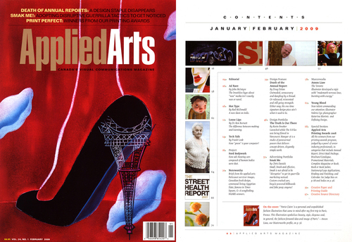 Anson Liaw - Applied Arts, Canada's Visual Communications Magazine Masterwork's editorial feature